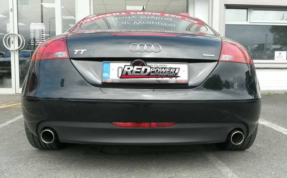 Exhaust tips completed on this Audi TT
