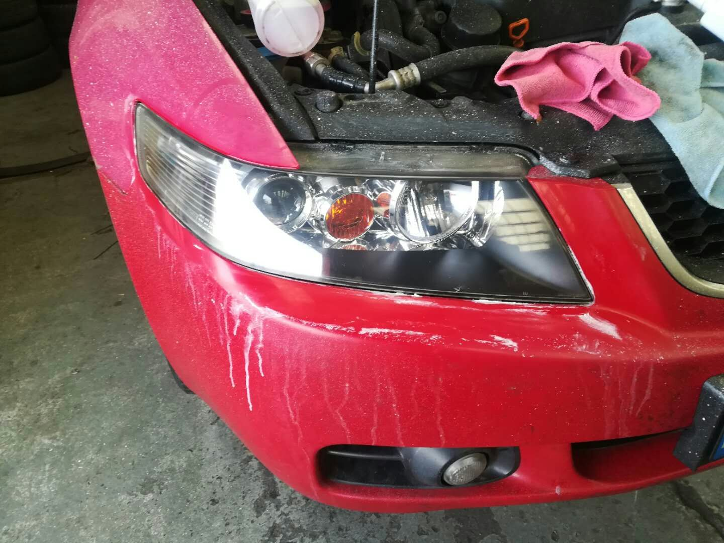 headlight restoration after left side