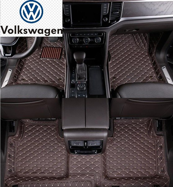 Vw Tailored 3d Luxury Leather Car Mats Red Power Motorsport