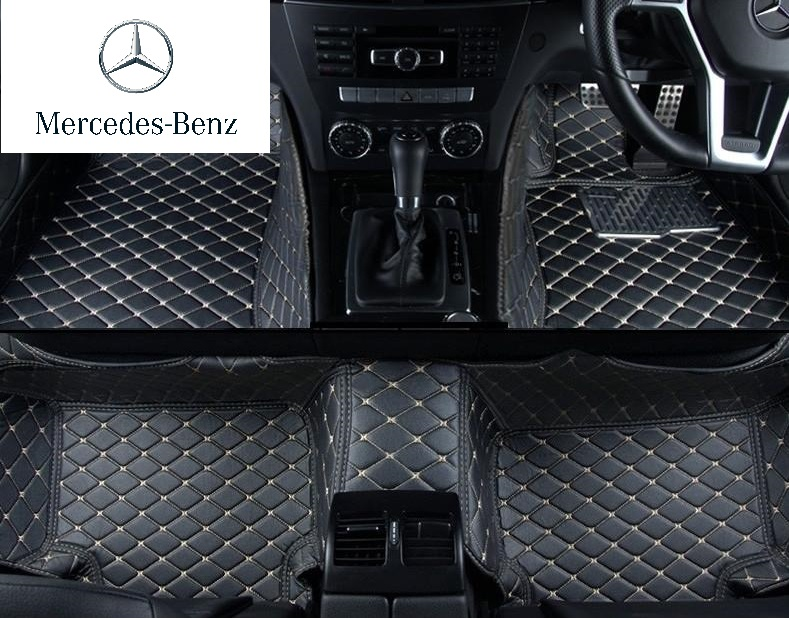 Mercedes Benz Tailored 3d Luxury Leather Car Mats Red Power Motorsport