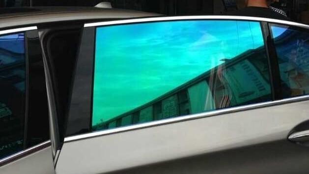 Chameleon Blue Window Tint Red Power Motorsport